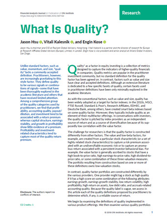 What is quality? Cover Image